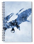 Pterodactyl-blue Spiral Notebook