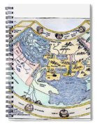 Ptolemaic World Map, 1493 Spiral Notebook