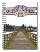 Public Fishing Pier Spiral Notebook