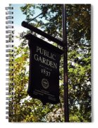 Public Garden 1837 Boston Spiral Notebook