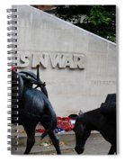Public Memorial Honoring Military Animals In War London England Spiral Notebook