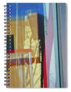Pueblo Downtown Reflection With Flag Spiral Notebook
