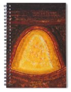Pueblo Kiva Fireplace Original Painting Spiral Notebook