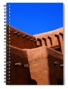Pueblo Revival Style Architecture In Santa Fe Spiral Notebook
