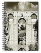 Puente Nuevo Tajo De Ronda Andalucia Spain Europe Spiral Notebook