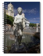 Puerto Rican Fountain In A Plaza Scene Spiral Notebook