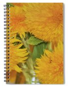 Puffy Golden Delight Spiral Notebook