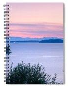 Puget Sound Twilight Spiral Notebook