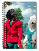 Puli Art Canvas Print - Birds And Falconers Paradise Spiral Notebook