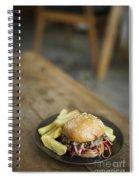 Pulled Pork Bun With Fries Spiral Notebook