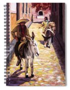 Pulling Up The Rear In Mexico Spiral Notebook
