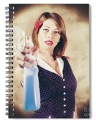 Pump Action Pin Up Woman Killing Glass Grime Spiral Notebook