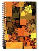 Pumpkin Autumn Cubes Spiral Notebook