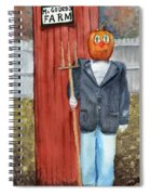 Pumpkin Farmer Spiral Notebook