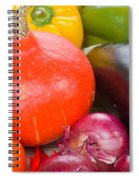Pumpkin With  Vegetables Spiral Notebook