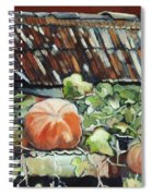 Pumpkins On Roof Spiral Notebook