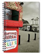 Punch And Judy Theatre On Llandudno Promenade Spiral Notebook