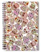 Punk Rock Pattern Spiral Notebook