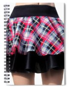 Punk Style Mini Skirt - Ameynra Fashion Spiral Notebook