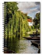 Punting, Cambridge. Spiral Notebook