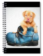 Pup In A Shoe Spiral Notebook