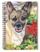 Pup In The Garden Spiral Notebook