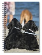 Puppies On The Beach Spiral Notebook