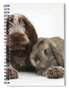 Puppy And Rabbt Spiral Notebook