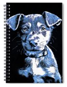Puppy Dog Graphic Novel Drawing Spiral Notebook