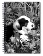 Puppy In The Leaves Spiral Notebook