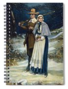 Puritans Going To Church Spiral Notebook