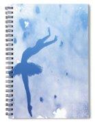 Purple Ballerina Silhouette Spiral Notebook