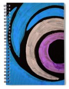 Purple And Blue Eyeball In Saint Augustine Florida Spiral Notebook
