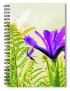 Purple And Blue Iris Spiral Notebook