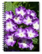 Purple And White Bouquet Spiral Notebook