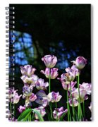 Purple And White Tulips - Photopainting Spiral Notebook