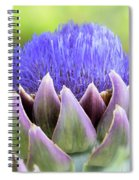 Purple Artichoke Flower  Spiral Notebook
