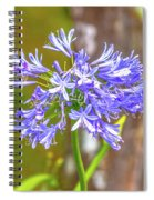 Purple Bells And Blossoms Spiral Notebook