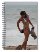 Purple Bikini Spiral Notebook