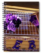 Purple Birdhouses 1 Spiral Notebook