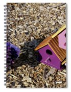 Purple Birdhouses 2 Spiral Notebook