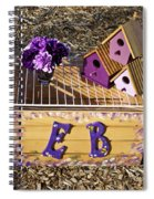 Purple Birdhouses 3 Spiral Notebook