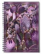 Purple Cactus Canvas Spiral Notebook
