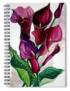 Purple Callas Spiral Notebook