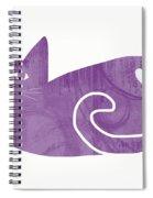 Purple Cat- Art By Linda Woods Spiral Notebook