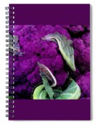 Purple Cauloflower Spiral Notebook