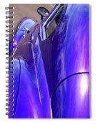 Purple Chevrolet Spiral Notebook