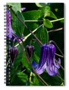 Purple Clamatis Bells Spiral Notebook