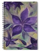 Purple Clematis Abstract Spiral Notebook