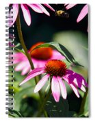 Purple Cones And Honey Bees Spiral Notebook